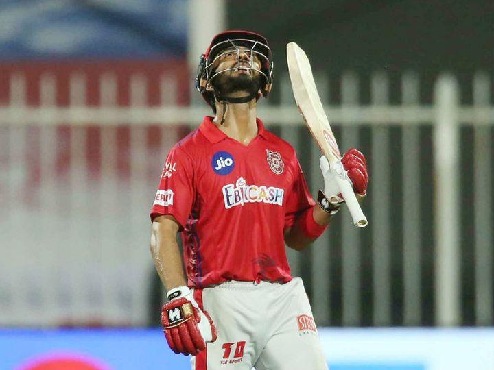 मैच में फिफ्टी लगाने के बाद मनदीप सिंह ने अपने पिता को इमोशनल ट्रिब्यूट दिया। - Dainik Bhaskar