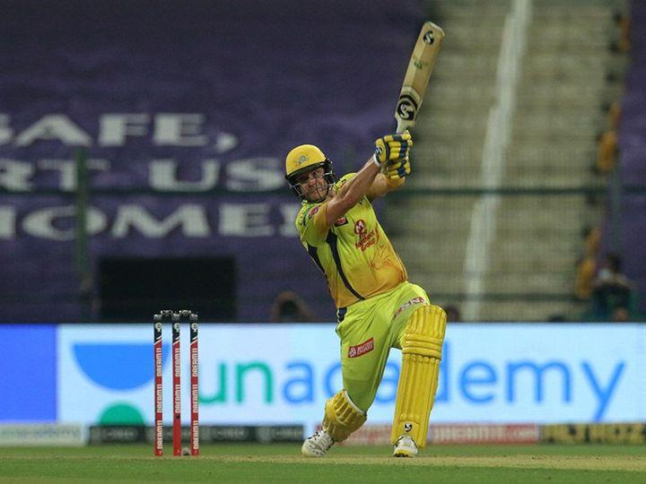 शेन वॉटसन ने IPL 2020 में 11 मैच में 299 रन बनाए। इस दौरान उन्होंने 2 फिफ्टी भी लगाईं। - Dainik Bhaskar