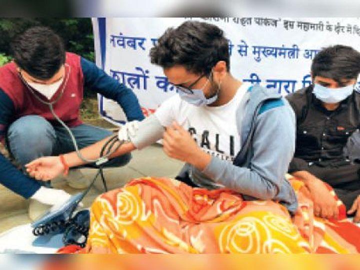 विरोध प्रदर्शन: दो दिन से भूख हड़ताल पर बैठे जीबी पंत कॉलेज के छात्रों का मेडिकल चेकअप 3