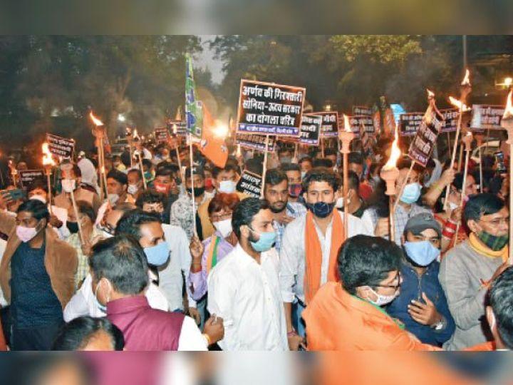 भाजपा का प्रदर्शन: गुप्ता की बयान- कांग्रेस-शिवसेना को पत्रकारिता पर किए गए हमले का जवाब देना ही होगा 3