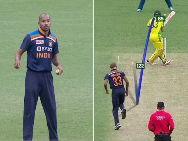 हार्दिक पंड्या ने ऑस्ट्रेलिया के खिलाफ वनडे में 4 ओवर किए और 24 रन देकर एक विकेट लिया। यह विकेट शतक लगा चुके स्टीव स्मिथ का था। - Dainik Bhaskar