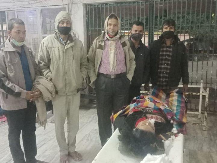 भागलपुर में स्पीड ब्रेकर ने ली महिला की जान। - Dainik Bhaskar
