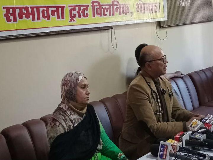 संभावना ट्रस्ट क्लिनिक के डॉक्टर्स गैस त्रासदी के बाद मरीजों की पीड़ा बयां करते हुए - Dainik Bhaskar