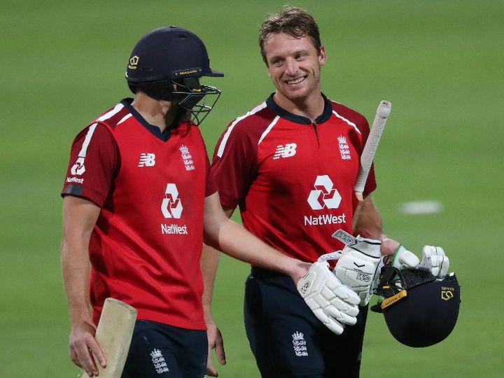इंग्लैंड के डेविड मलान और जोस बटलर ने दूसरे विकेट के लिए नाबाद 167 रन की पार्टनरशिप की। - Dainik Bhaskar