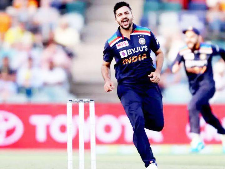 ऑस्ट्रेलिया के खिलाफ तीसरे वनडे में शार्दूल ठाकूर ने 10 ओवर में 51 रन देकर 3 विकेट लिए। - Dainik Bhaskar