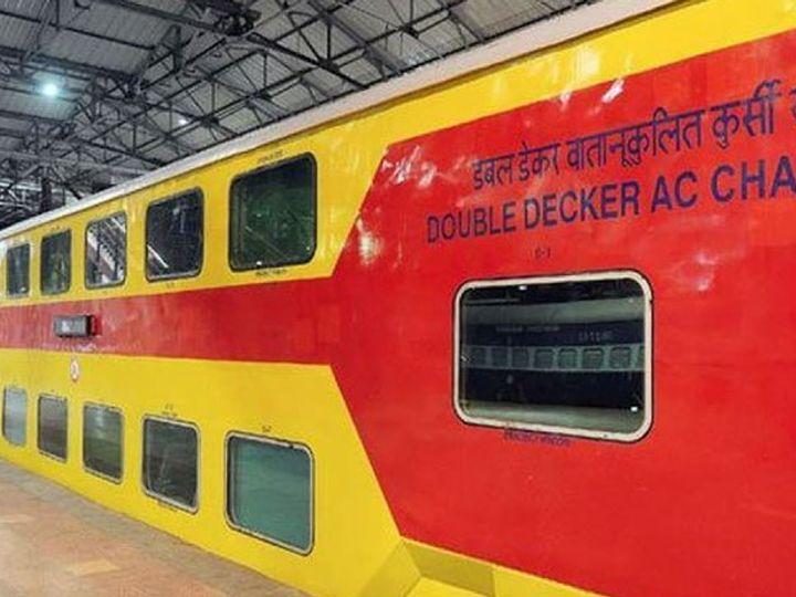 लॉकडाउन के बाद शुरू हुई डबल डेकर ट्रेन में रोज 30 फीसदी ही यात्री सफर कर रहे थे। - Dainik Bhaskar