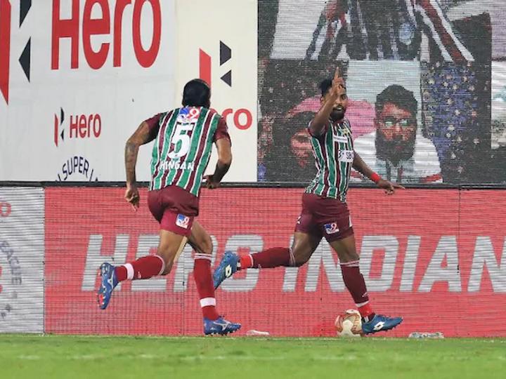 ATK मोहन बगान के रॉय कृष्णा ने गोल कर टीम को जीत दिलाई। - Dainik Bhaskar