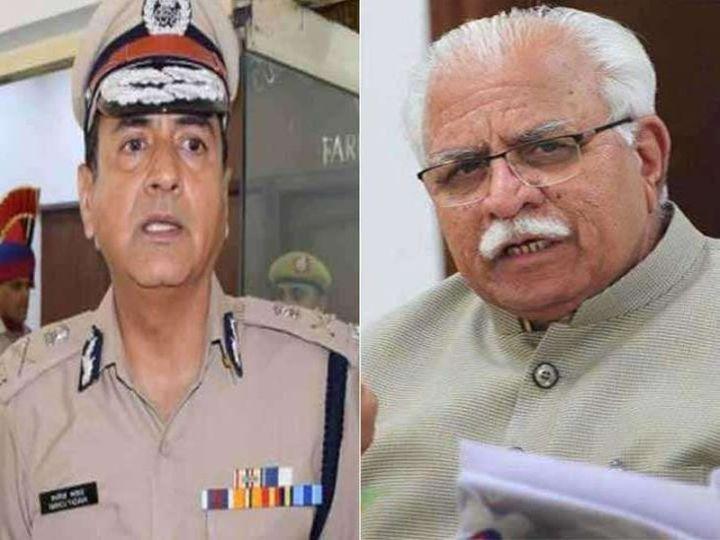DGP हरियाणा मनोज यादव मुख्यमंत्री मनोहर लाल के साथ-साथ प्रधानमंत्री नरेंद्र मोदी के भी विश्वासपात्र हैं। - Dainik Bhaskar