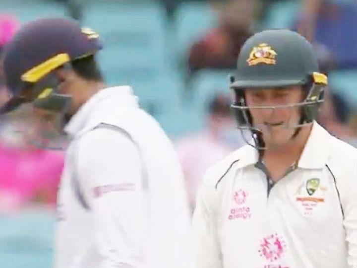 तीसरे टेस्ट के दूसरे दिन ऑस्ट्रेलियाई टीम पहली पारी में 338 रन पर सिमट गई। मार्नस लाबुशेन ने 196 बॉल पर 91 रन की पारी खेली। - Dainik Bhaskar