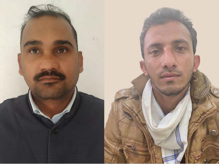 (बाएं से)- सौरभ शर्मा और अनस गितैली। ये दोनों पाकिस्तानी ऑपरेटिव को संवेदनशील सूचनाएं भेज रहे थे। - Dainik Bhaskar