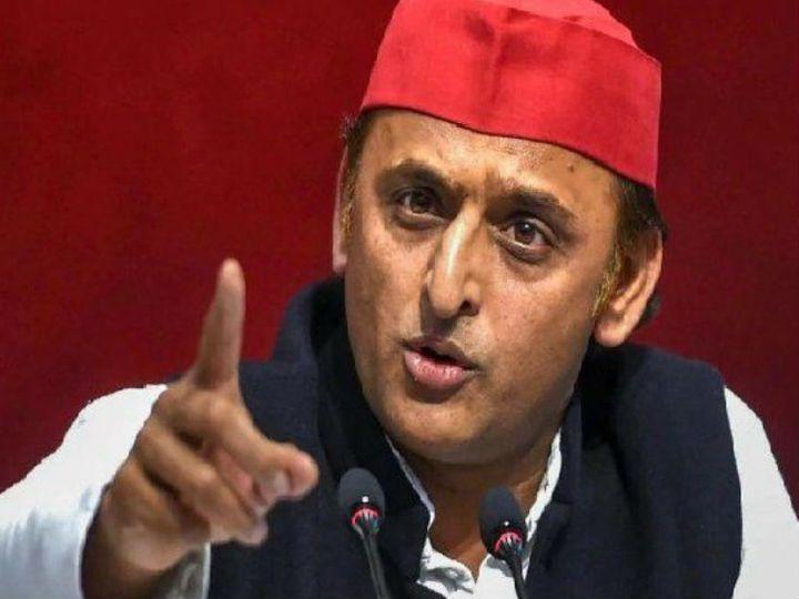 यूपी के सीएम अखिलेश यादव ने बांदा में सरकार पर जमकल हमला बोला। कहा कि सरकार चिन्हित लोगों पर ही ऑपरेशन नेस्तनाबूद की कार्रवाई कर रही है। - Dainik Bhaskar