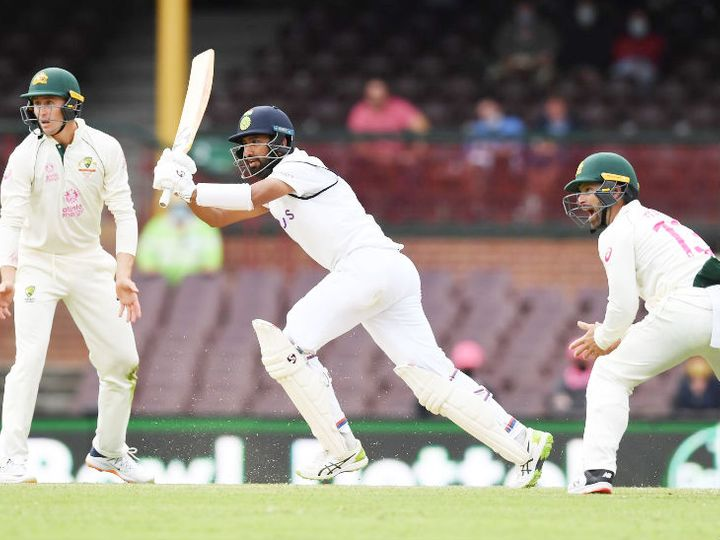 ऑस्ट्रेलिया के खिलाफ सिडनी में खेले जा रहे तीसरे टेस्ट मैच में भारतीय बल्लेबाज चेतेश्वर पुजारा 174 गेंद पर 50 रन बनाकर आउट हो गए। इससे पहले 2018 में जोहानेसबर्ग में उन्होंने साउथ अफ्रीका के खिलाफ 173 बॉल में फिफ्टी लगाई थी। उसके बाद आउट हो गए थे। - Dainik Bhaskar