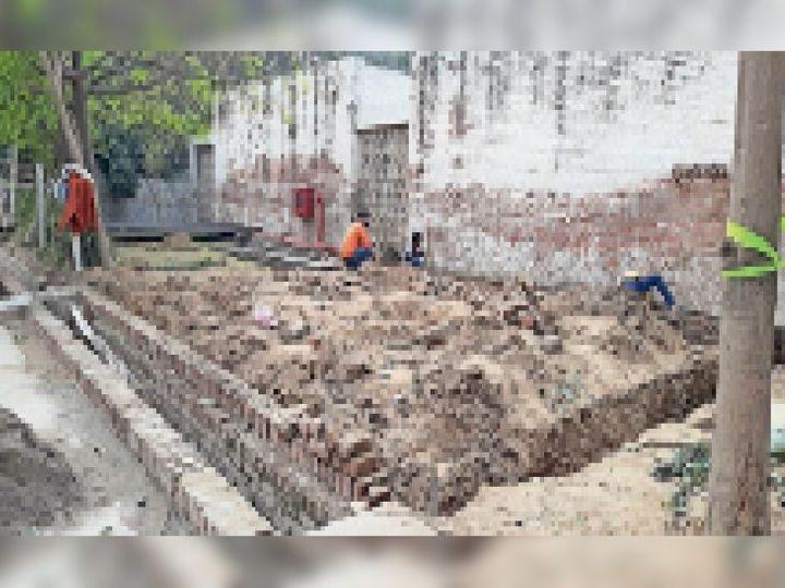 सिविल अस्पताल में ऑक्सीजन जनरेशन प्लांट का निर्माण शुरू। - Dainik Bhaskar