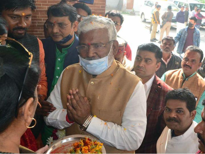 अयोध्या में प्रदेश अध्यक्ष स्वतंत्र देव सिंह का स्वागत किया गया। - Dainik Bhaskar