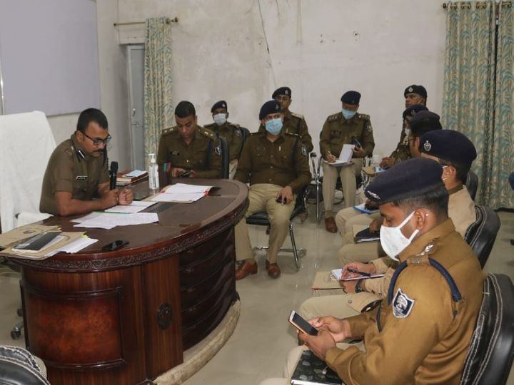 पटना के SSP उपेंद्र कुमार शर्मा ने शहरी और ग्रामीण क्षेत्र के सभी थानेदारों के साथ क्राइम मीटिंग की। - Dainik Bhaskar