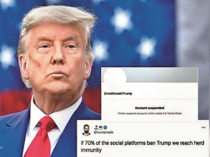 फेसबुक और ट्विटर ने गलत जानकारी देने और हिंसा भड़काने वाले पोस्ट हटाने शुरू किए तो राष्ट्रपति डोनाल्ड ट्रम्प के लाखों समर्थक मुफ्त ऐप पार्लर पर चले गए थे। - Dainik Bhaskar