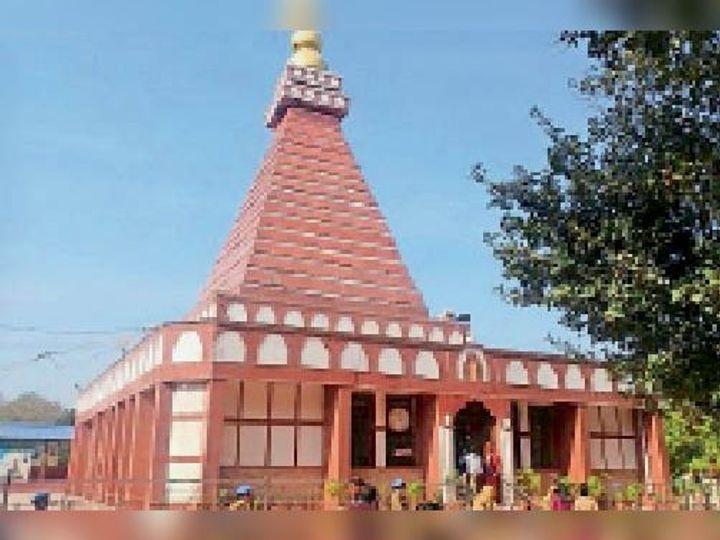 इटखोरी मेें बने मां भद्रकाली के इस मंदिर जैसा होगा मठ मंदिर का निर्माण। - Dainik Bhaskar
