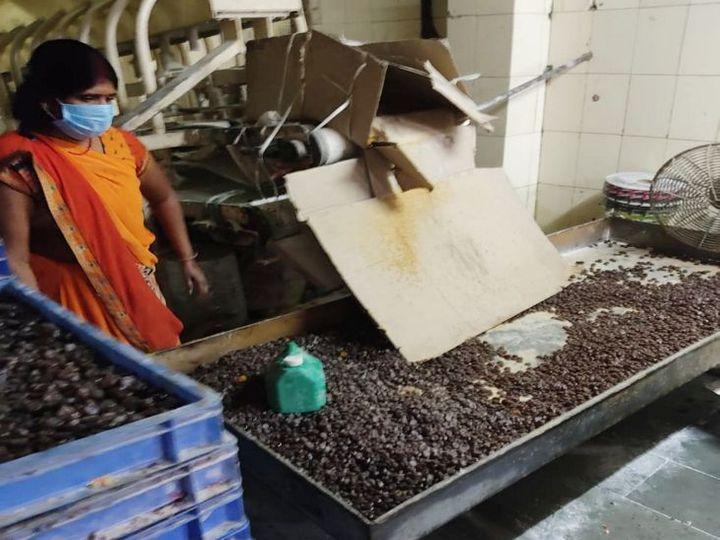 टीम ने दबिश दी तो यहां पर कैंडी और लालीपॉप तैयार किए जा रहे थे। - Dainik Bhaskar