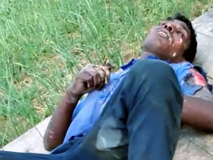 करंट के झटके से खंभे से नीचे गिरा युवक गंभीर रूप से जख्मी हो गया। - Dainik Bhaskar