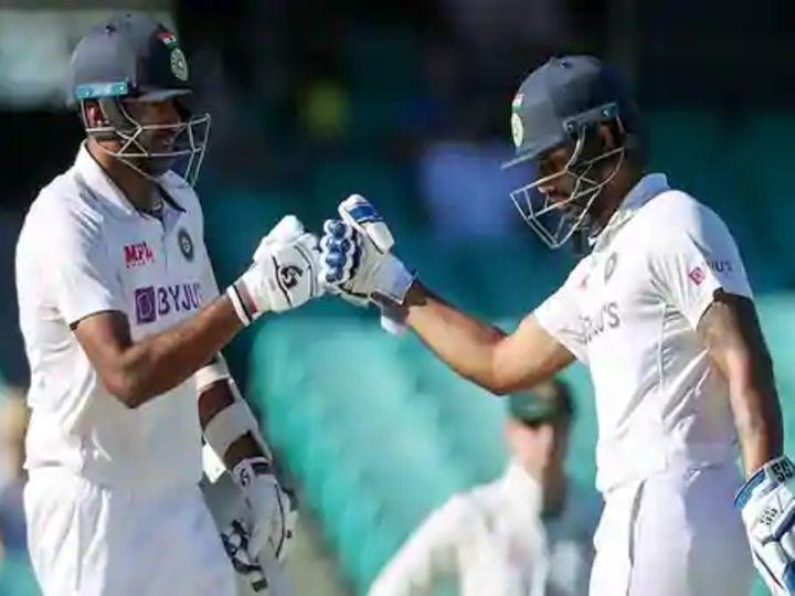 सिडनी टेस्ट के आखिरी दिन अश्विन ने 128 बॉल पर 39 और विहारी ने 161 बॉल पर 23 रन की पारी खेली थी। - Dainik Bhaskar