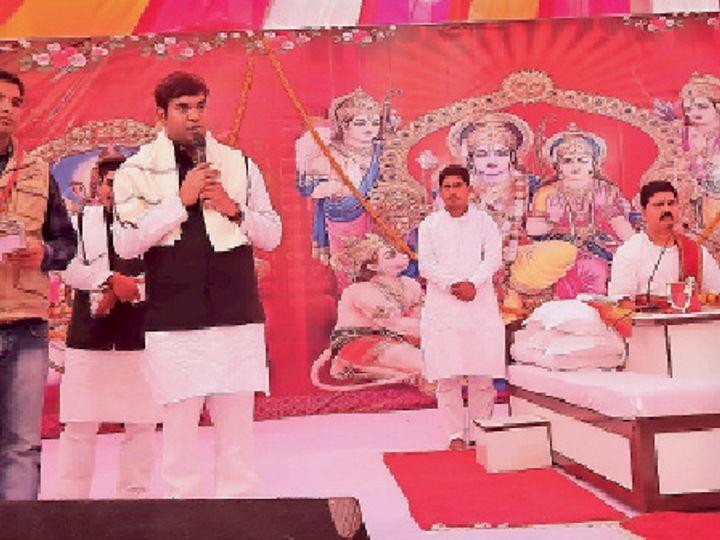 सभा को संबोधित करते मंत्री मुकेश सहनी। - Dainik Bhaskar