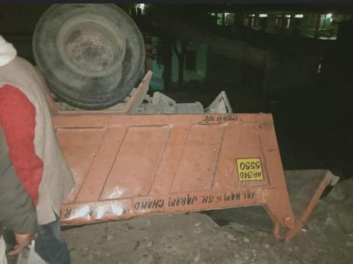 टिप्पर में 4 लोग खवार थे, जिनमें से एक व्यक्ति की घटनास्थल पर ही मौत हो गई। - Dainik Bhaskar