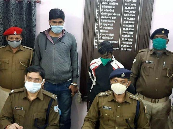 पुलिस के अनुसार, गिरफ्तार आकाश खिड़की और छत के रास्ते से ही चोरी की घटनाओं को अंजाम दिया है। - Dainik Bhaskar