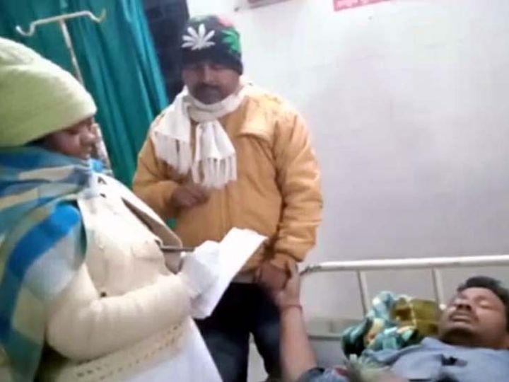 घायलों का प्रारंभिक इलाज सामुदायिक स्वास्थ्य केंद्र, बरहरवा में किया गया। - Dainik Bhaskar