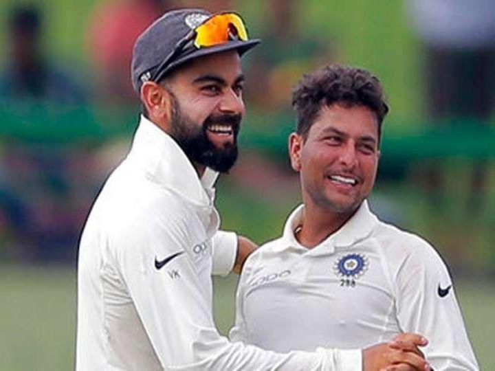 कुलदीप को चेन्नई टेस्ट में शामिल नहीं किया गया है। कप्तान कोहली ने कहा कि कुलदीप हमारी योजनाओं में शामिल हैं। ( फाइल फोटो) - Dainik Bhaskar