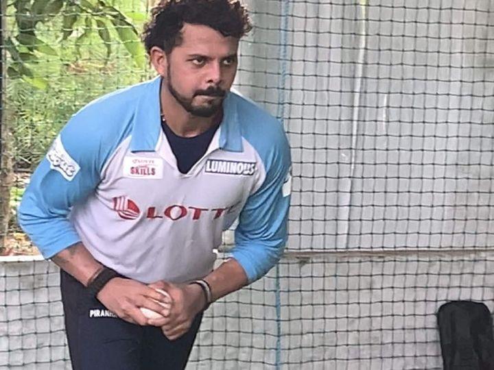 श्रीसंत ने सात साल बाद क्रिकेट में वापसी करते हुए सैयद मुश्ताक अली ट्रॉफी में केरल की ओर से खेले थे। उनका बेस प्राइज 75 लाख रूपए है। (फाइल फोटो) - Dainik Bhaskar