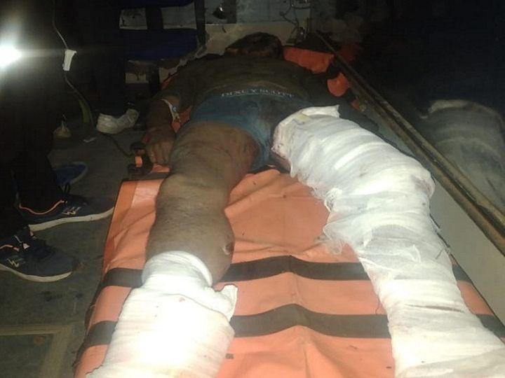 फोटो बीजापुर की है। पहले शाम के वक्त जवान के घायल होेने की अपुष्ट खबरें आ रही थीं, इसके बाद जवान की मौत की पुष्टी हुई। - Dainik Bhaskar