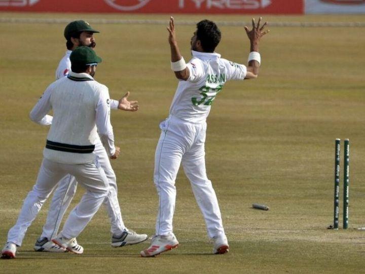 हसन अली ने करियर में पहली बार टेस्ट में 10 विकेट लिए। उन्होंने दोनों पारियों में 5-5 विकेट लिए। - Dainik Bhaskar