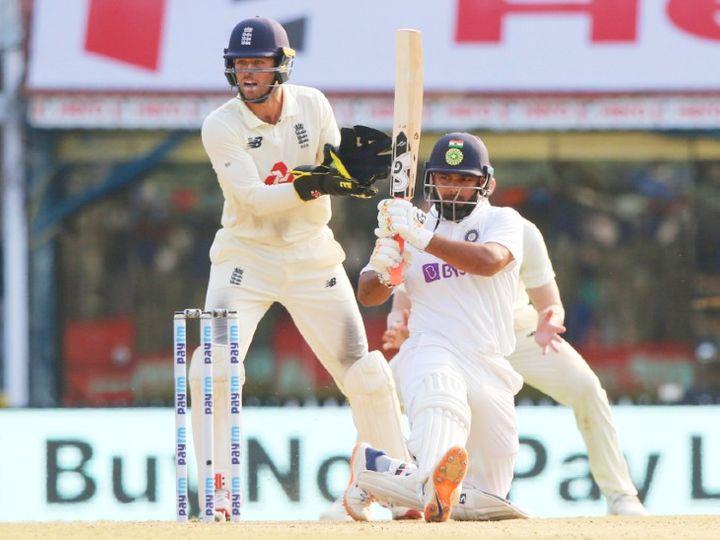 टीम इंडिया के बैट्समैन ऋषभ पंत ने सीरीज के पहले टेस्ट की पहली पारी में 91 और दूसरी पारी में 11 रन बनाए थे। - Dainik Bhaskar