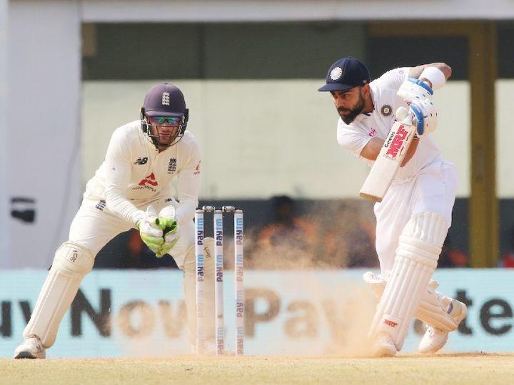भारतीय टीम के कप्तान विराट कोहली इंग्लैंड के खिलाफ दूसरे टेस्ट की पहली पारी में खाता भी नहीं खोल सके थे। - Dainik Bhaskar
