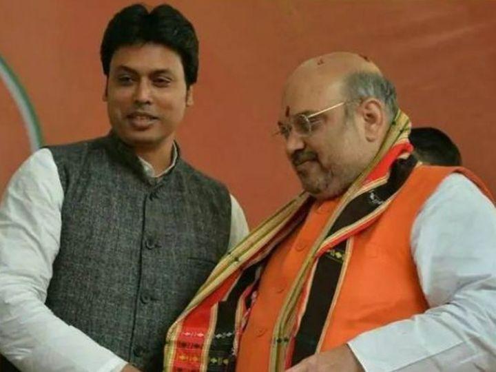 त्रिपुरा के सीएम बिप्लब देब ने 13 फरवरी को हुए एक कार्यक्रम में शाह से जुड़ा किस्सा सुनाया। - फाइल फोटो - Dainik Bhaskar