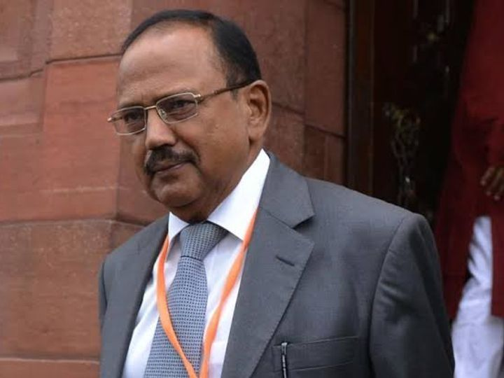 NSA Ajit Doval and Chinese Foreign Minister Wang Yi had a video call conversation on 5 July 2020 after a violent clash in Galvan.  (File photo) - Dainik Bhaskar
