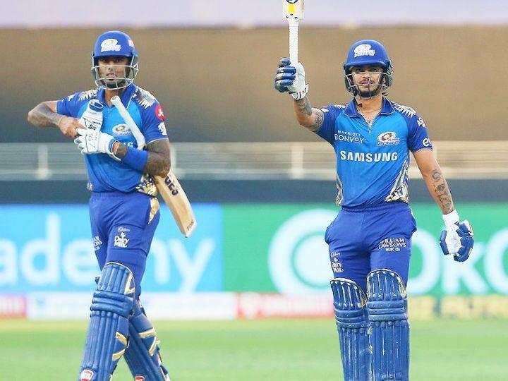सूर्यकुमार यादव और इशान किशन IPL में मुंबई इंडियंस के लिए खेलते हैं। इशान ने पिछले सीजन में 14 मैच में सबसे ज्यादा 516 रन बनाए थे। - Dainik Bhaskar