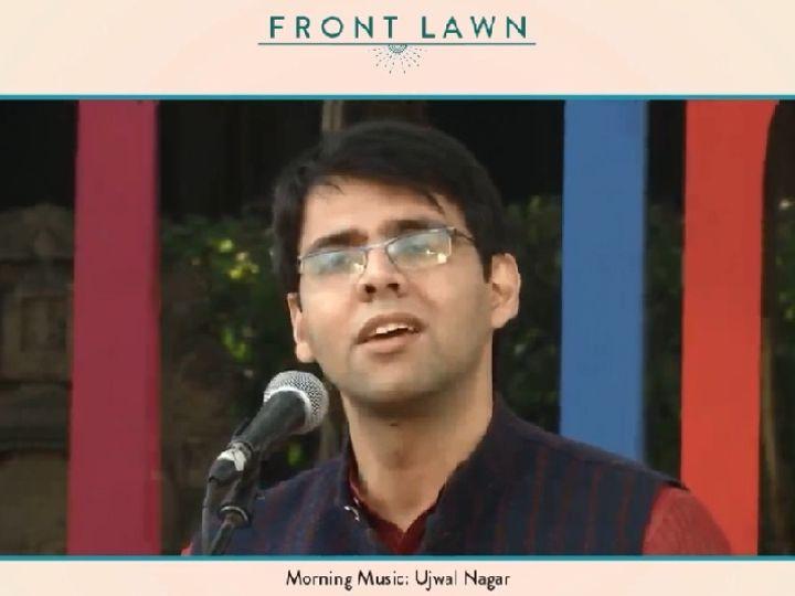 जयपुर लिटरेचर फेस्टीवल के तीसरे दिन की शुरुआत कलाकार उज्ज्वल नागर के शास्त्रीय गायन से हुई। - Dainik Bhaskar