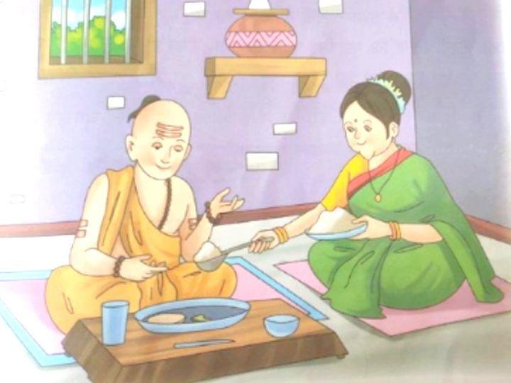 राज्य के CBSE की 8वीं क्लास की हिंदी बुक में 'वासुकी का प्रश्न' शीर्षक वाला एक अध्याय है। इसमें संत-कवि तिरुवल्लुवर को गेरुवा वस्त्र, चोटी, जनेऊ, रुद्राक्ष और टीका लगाए दिखाया गया है। - Dainik Bhaskar