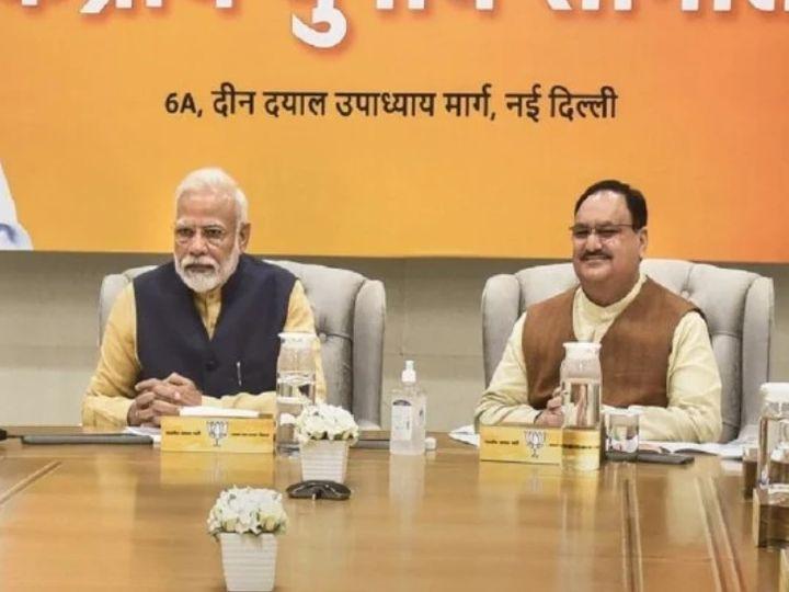 राष्ट्रीय कार्यकारिणी की बैठक से पहले शनिवार को भाजपा मुख्यालय में पार्टी के संगठन महासचिवों की बैठक हुई। - Dainik Bhaskar