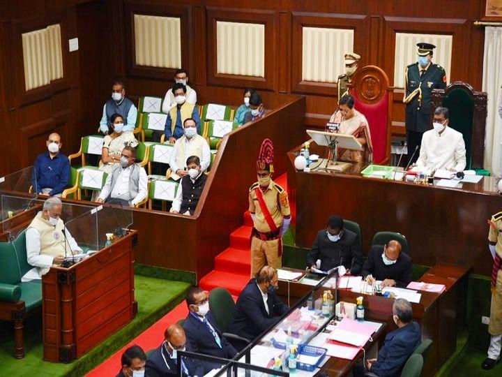 राज्यपाल के अभिभाषण के साथ विधानसभा का बजट सत्र औपचारिक रूप से शुरू हो गया। यह सत्र 26 मार्च तक चलना है। - Dainik Bhaskar