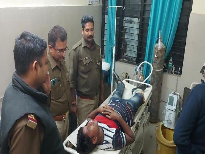 बीते रविवार को गुलशन को एनकाउंटर में पैरों में गोली मार गिरफ्तार किया था। - Dainik Bhaskar
