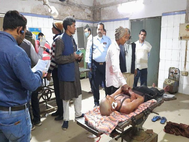घायलों का इलाज चल रहा है। - Dainik Bhaskar