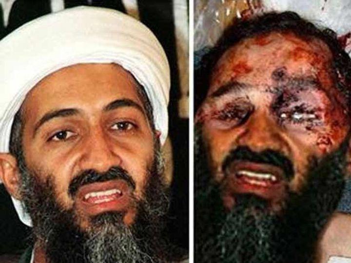 लादेनचा आधीचा फोटो (डाव्या बाजूला) आणि मृत्यू नंतरच्या फोटो (उजव्या बाजूला). - Divya Marathi