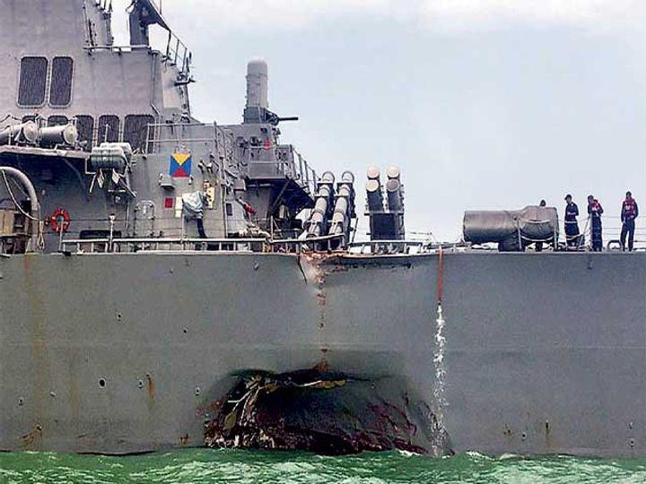 या युद्धनौकेला अमेरिकेतील सिनेटर जॉन मॅक्केन यांच्या आजोबांचे नाव देण्यात आले होते. ते अमेरिकी नौदलाचे अॅडमिरल होते. - Divya Marathi