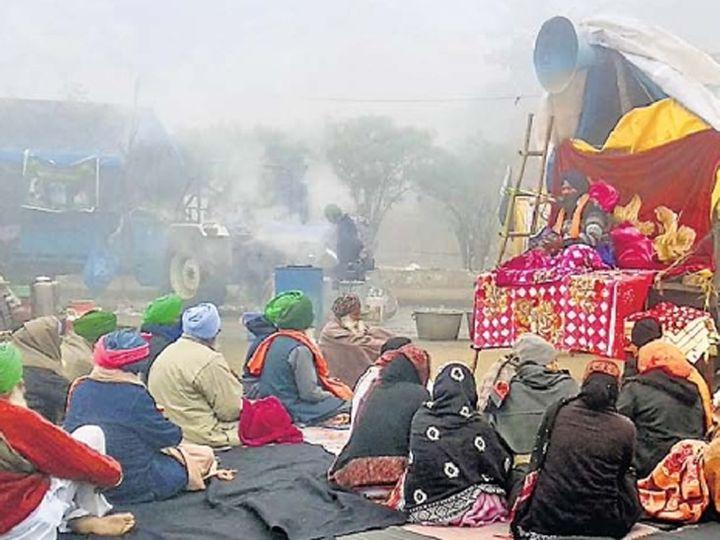 शेतकऱ्यांचे शीत-युद्ध... कडाक्याच्या थंडीतही ३८ दिवसांपासून तळ - Divya Marathi