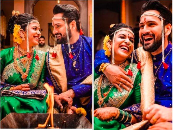 पुण्यात पारंपरिक पद्धतीने सिद्धार्थ-मितालीने लग्न केले (फोटो सौजन्य : gaatha.co.in) - Divya Marathi