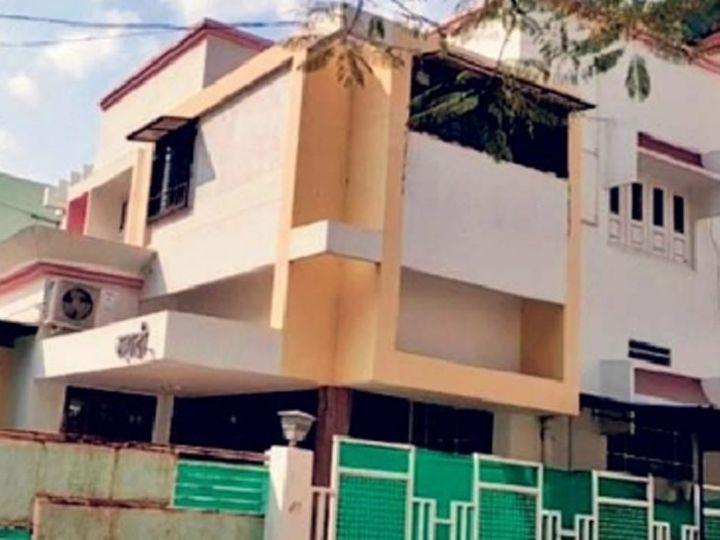 शंतनू मुळूकचे बीड शहरातील चाणक्यपुरी भागातील घर. - Divya Marathi