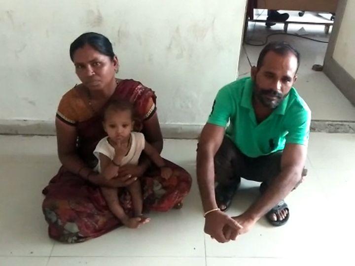 બાળકીને હૈદરાબાદથી સુરતના કાપોદ્રામાં લઈને આવેલા દંપતીની અટકાયત કરવામાં આવી હતી. - Divya Bhaskar