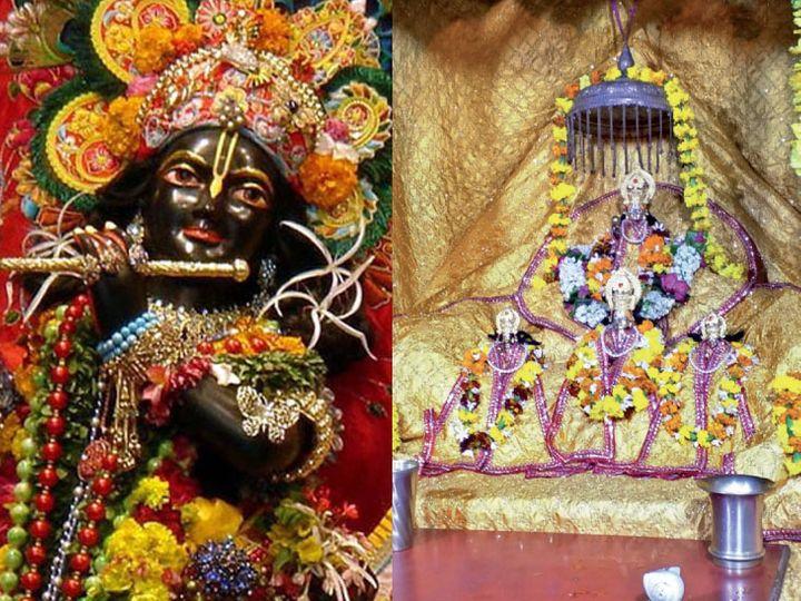 શ્રી બાંકે બિહારી, વૃંદાવન અને શ્રી રામલલ્લા, અયોધ્યા. - Divya Bhaskar